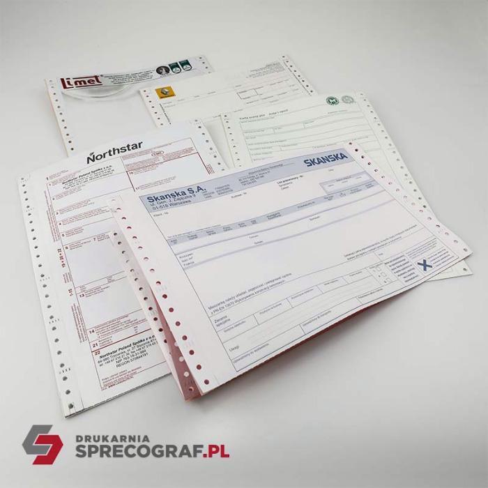 Utskrifter og selvkopierende blokker - kontinuerlig skjema utskrift, NCR-skjemaer, medisinske skjemaer