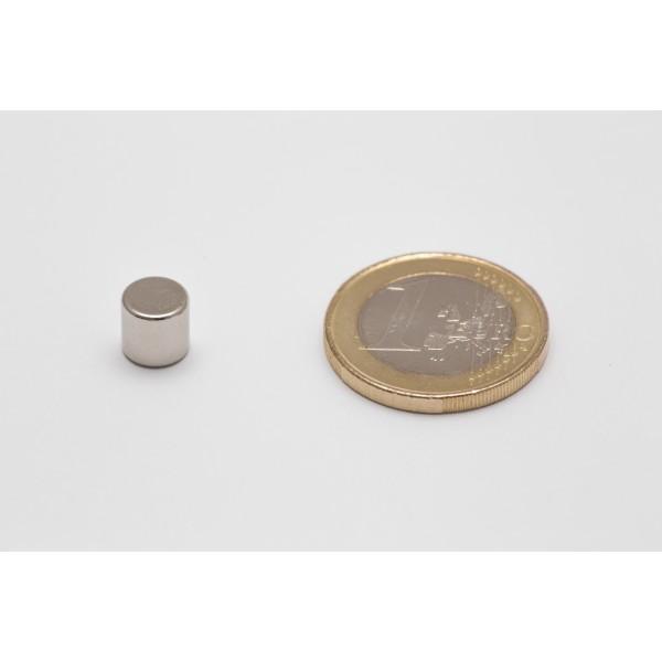 Neodymium disc magnet 7x7mm, N45, Ni-Cu-Ni, Nickel coated - Disc