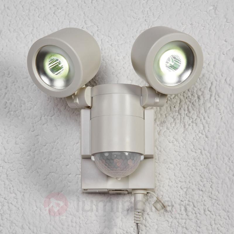 Confortable spot solaire LED Duo LPL 130 blanc - Appliques d'extérieur avec détecteur