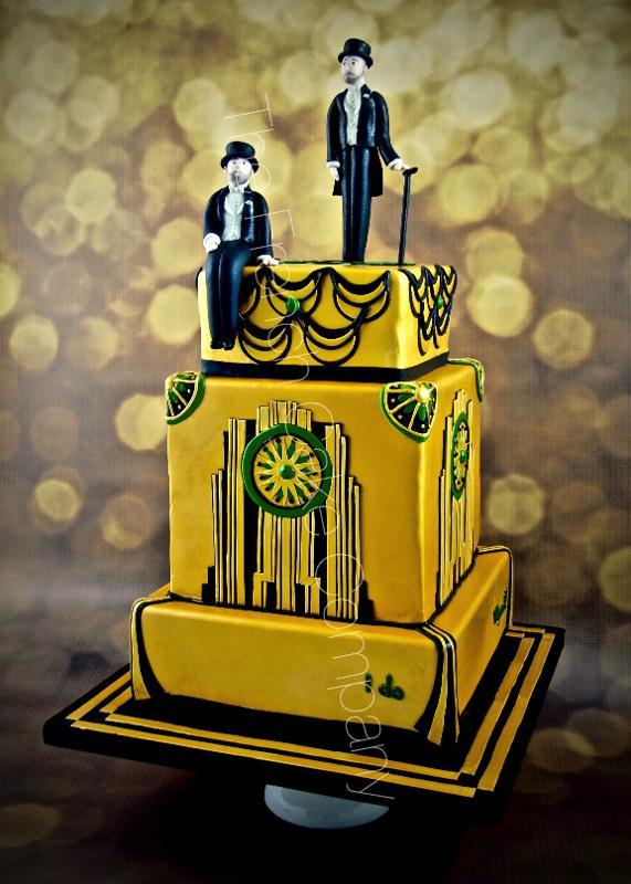 Gâteaux et Pièces Montées sur-mesure - Gâteau Mariage Gay Gatsby