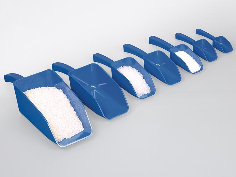 Lebensmittelschaufel, blau - Verwendbar im Rahmen des HACCP/IFS/BRC Fremdkörpermanagements