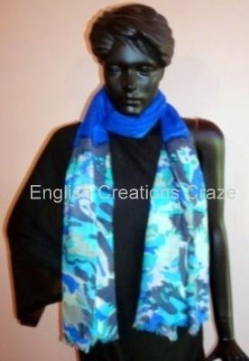 Wool Viscose Printed Scarves - Wool Viscose Printed Scarves