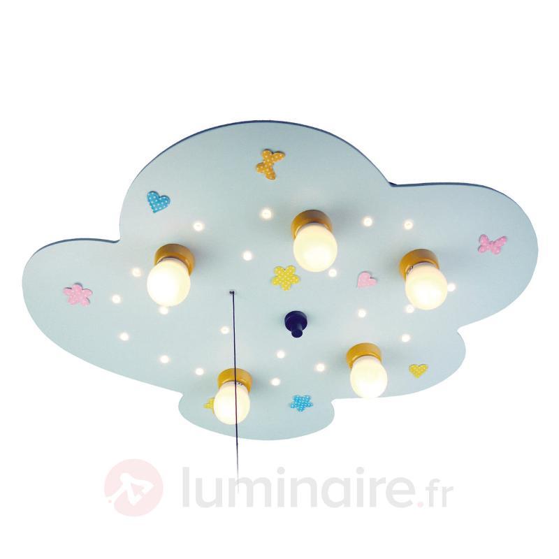 Plafonnier Petit Nuage bleu clair - Chambre d'enfant