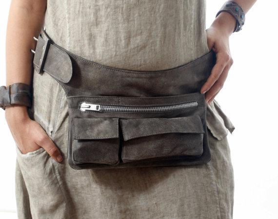 sac de taille - Sac de taille en cuir