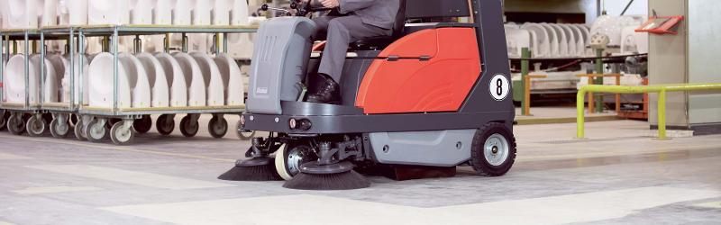 Sweepmaster 1200 Rh - Ride-on vacuum sweeper for large industrial areas
