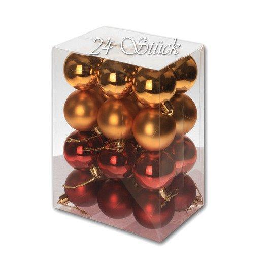 Weihnachtskugel 24 Stück 5cm Durchmesser Farbe: Gold /... - null