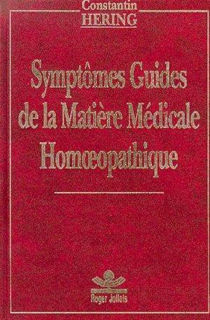 Symptomes guide de la matiere medicale homeopathique - Homéopathie - librairie