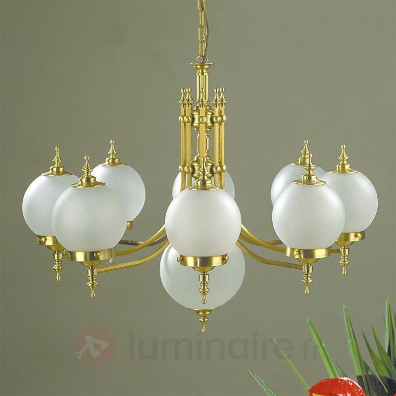 Suspension OBJEKT, 9 lampes, bronze - Lustres classiques,antiques