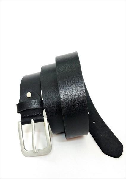 Full grain black jeans belt - Full Grain casual jeans belt from india