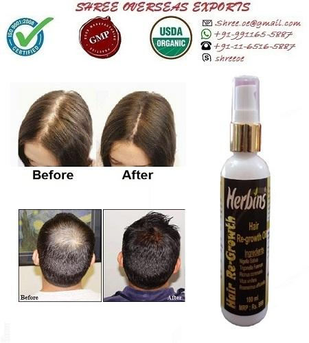 Organic Hair Re-Growth Oil - USDA Organic
