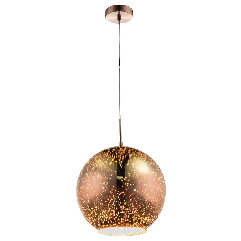 Copper-coloured glass hanging light Taina, 30 cm - indoor-lighting