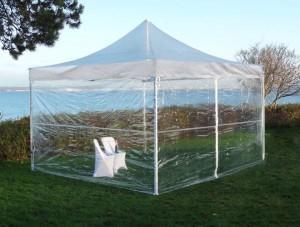 Location de Tente pliante PRO Transparente - null
