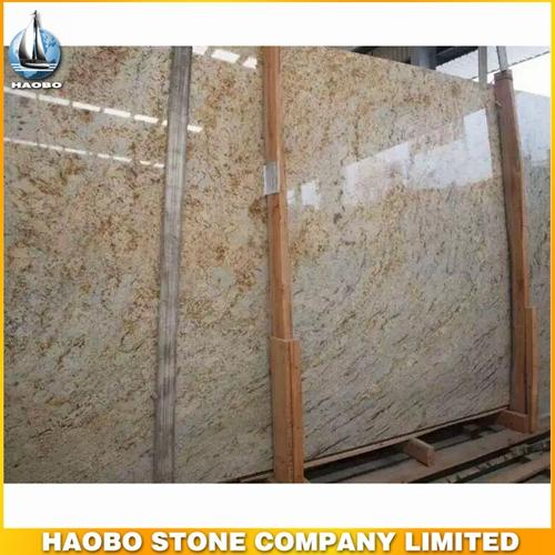 Giallo Orlando Granite Slab For Wall And Flooring Covering