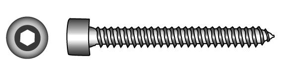 Hexagon socket head tapping screws - Material A2 | A4