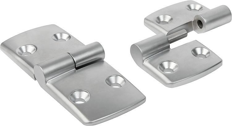 Charnière dégondable en aluminium, à droite - Charnières