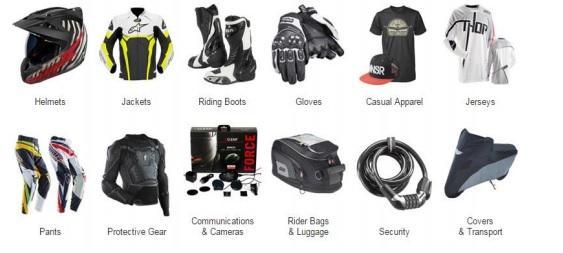 Motorcycle Apparel & Accessories & Parts - Motorcycle Apparel & Accessories & Parts