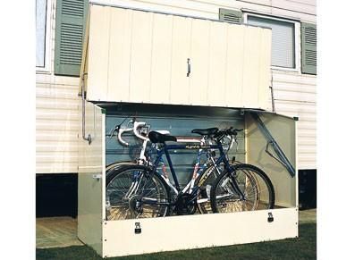 Abri pour vélos et cyclos en métal - Beige