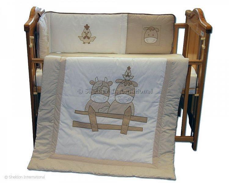 Cot Quilt and Bumper Set - Cows - Bedding Sets