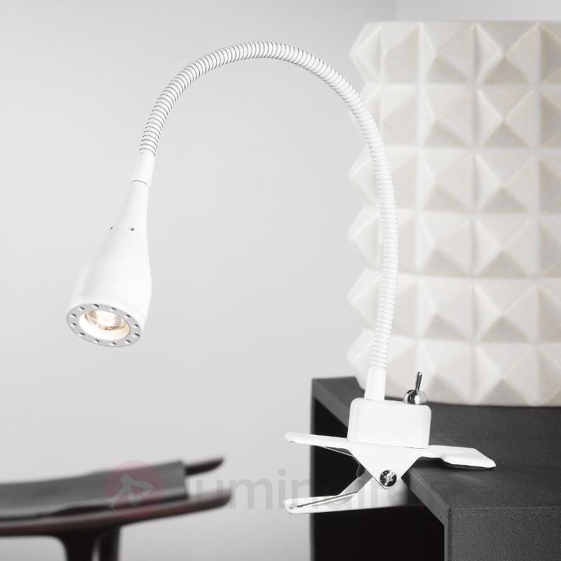 Lampe LED souple à pince Mento blanche - Lampes à poser LED