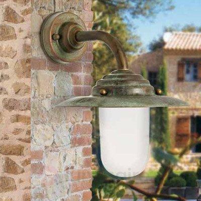 Applique d'extérieur simple Antique - Appliques d'extérieur cuivre/laiton
