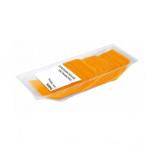 100% Cheddar Rouge En Tranches - null