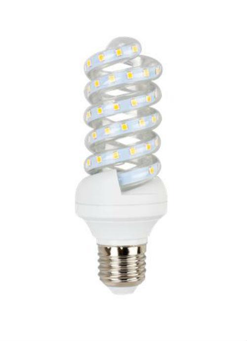 Lampadine LED a spirale E27 - 13W trasparente 3000/4000/6400K 1100/1150/1200lm
