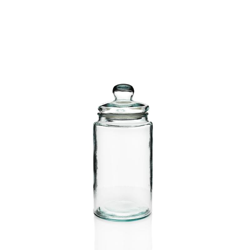 Cylindrical candy jar 6 liters  - in recycled glass