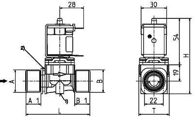 Direct acting solenoid valve, DN 13 media separated - 01.013.127
