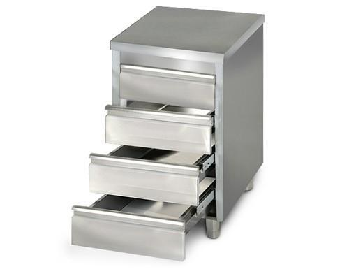 Drawers - Drawer cabinet 0,5m - with 4 drawers