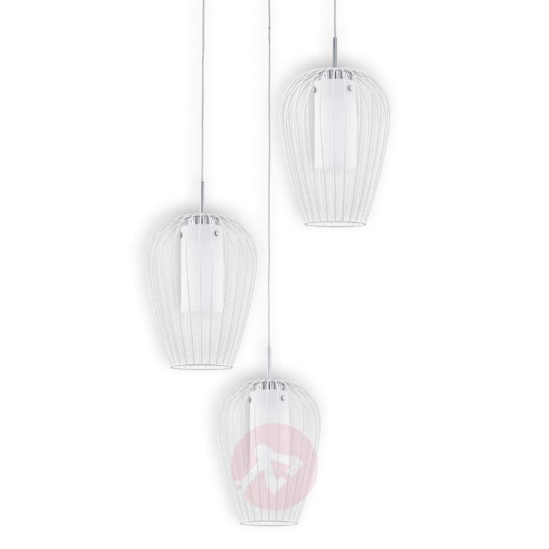 Stylish Vencino LED hanging light in white - Pendant Lighting