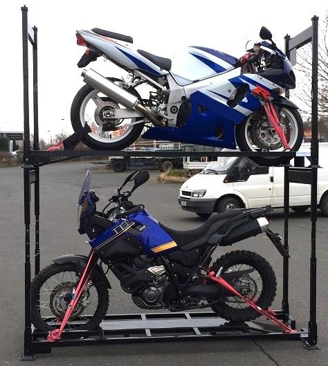 Motorradgestelle höhenverstellbar - höhenverstellbare Transportpalette für Motorräder