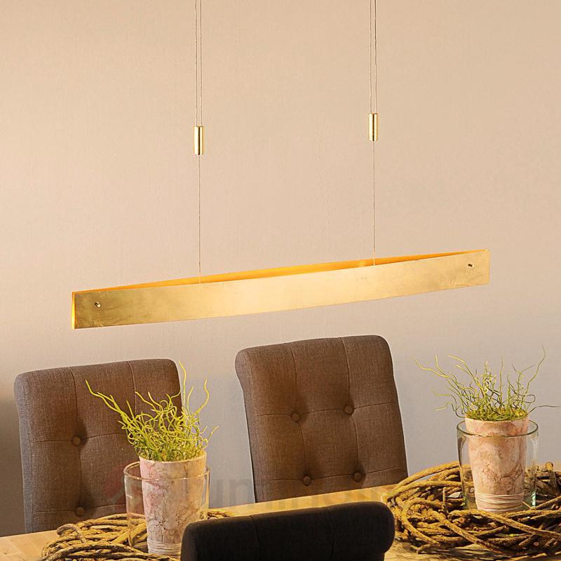 Suspension LED Malu aspect doré 100 cm - Suspensions LED