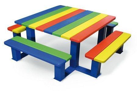 Table de pique nique enfants - Aménagement extérieur