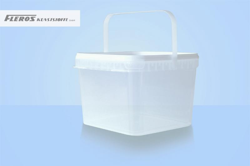 Square shaped buckets - FK-Q 4.200 bucket, square-shaped, PP