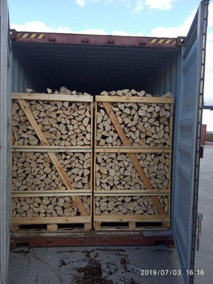 Kiln dried firewood in crates - BIG CRATE