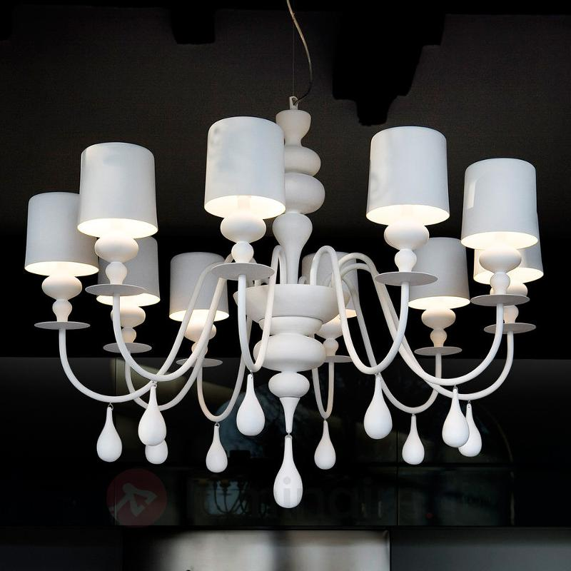Lustre Eva S10 blanc - Lustres designs, de style