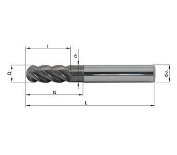 Vollhartmetallfräser VHM 485-02 TN12 - null