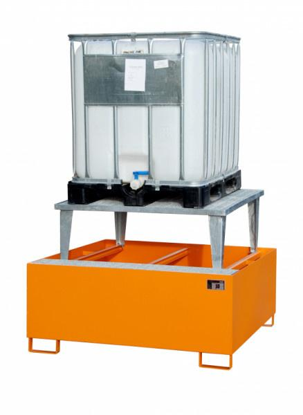 Retention basin type ECO-A 1/1000 - Storage of 1 x 1000-l-IBC,  with raised platform