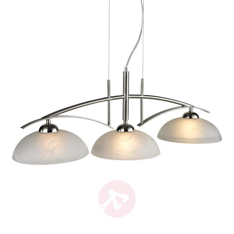 3-bulb hanging light Venezia, brushed steel - Pendant Lighting