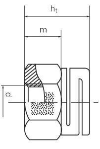 Lock nuts - KLOCK-GANZMETALLMUTTERN - Typ ESL