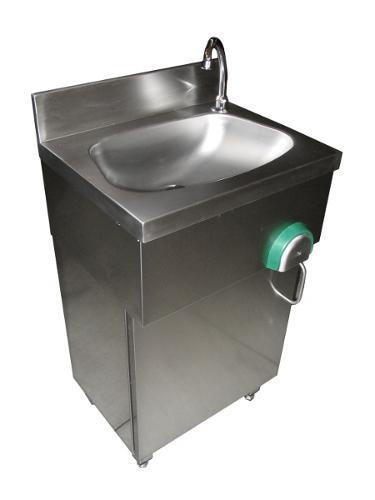 Lavamani su mobile inox 3579 - Pattumiere - Carrelli - Lavamani - Tramogge in acciaio inox