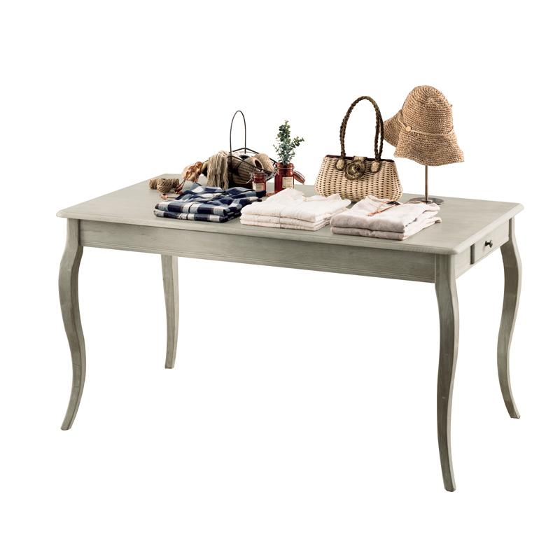 Shabby Chic Display Table - Grey Rubber Wood - 2 Sizes Available