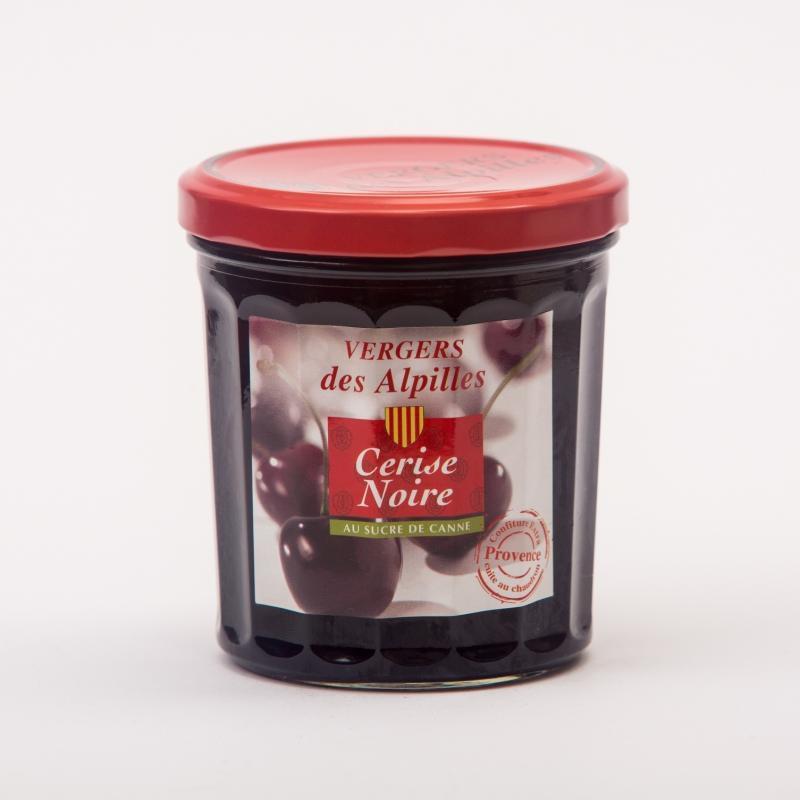 confiture Cerise Noire - Confitures au sucre de canne Vergers des Alpilles