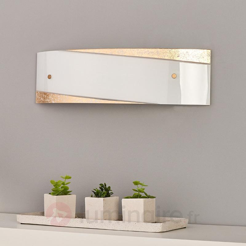 Beatrice - applique avec décor doré - Appliques en verre