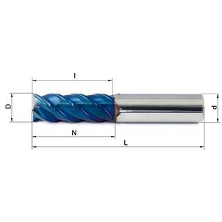 Vollhartmetallfräser VHM 451-02 HX63 - null
