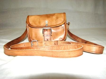 Leather Small Messenger Bag - Genuine Leather, Standard Size