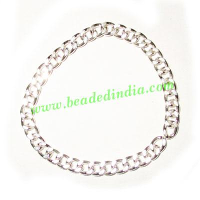 Silver Plated Metal Chain, size: 1x4mm, approx 35.6 meters i - Silver Plated Metal Chain, size: 1x4mm, approx 35.6 meters in a Kg.