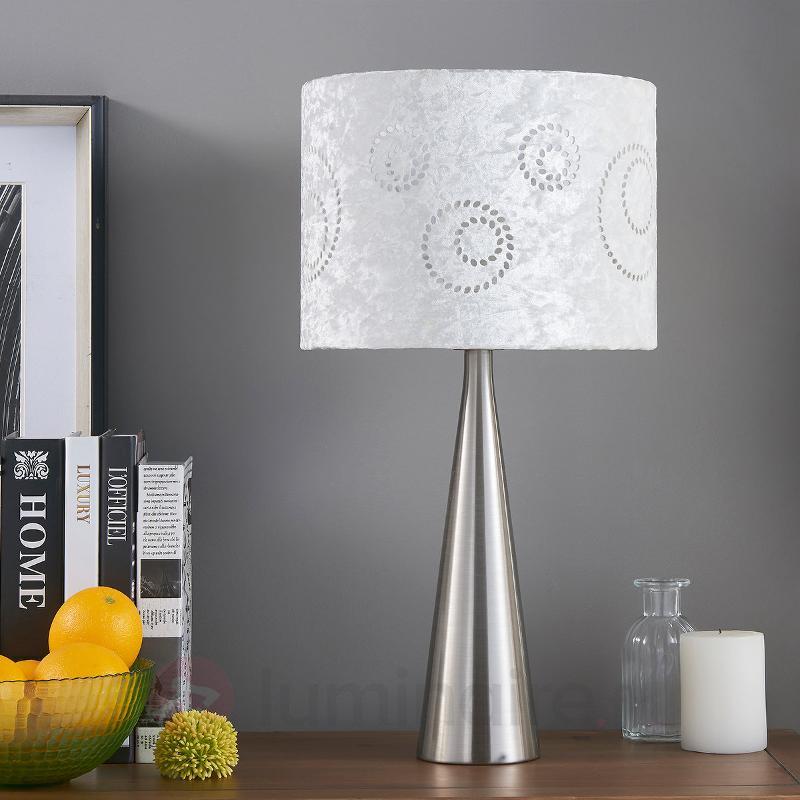 Lenna - lampe à poser tissu abat-jour en velours - Lampes à poser en tissu