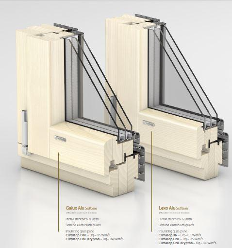Aluminium clad wood windows