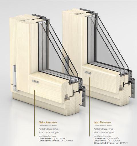 Aluminium clad wood windows -